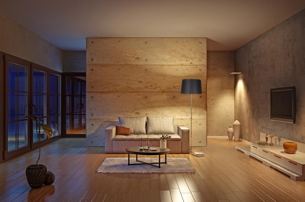 Contemporary-Floor-Lamp-in-Modern-Interior